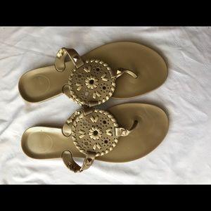 Gold jack roger jellies- girls size 3 (women 5.5)